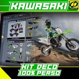 Kit Déco Kawasaki 85cc 100% PERSO