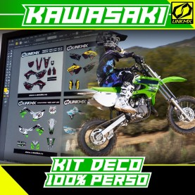 Kit Déco Kawasaki 65cc 100 % PERSO