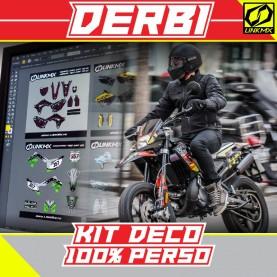Kit Déco Derbi 50cc 100 % PERSO