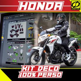 Kit Déco Moto Honda 100% PERSO