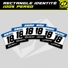 Sticker rectangle identité personnalisable