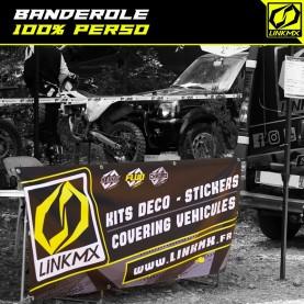 Banderole paddock / circuit 100% perso