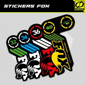 Stickers fourche FOX 2015/2016