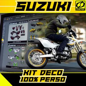 Kit Déco Moto Suzuki 100% PERSO