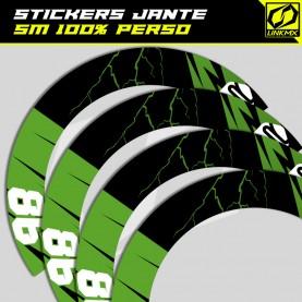 Stickers jante SM 100% perso